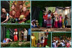 Lesní divadlo, představení Lotrando aZubejda 2019